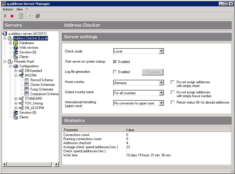 Konfiguration-Quality-Server